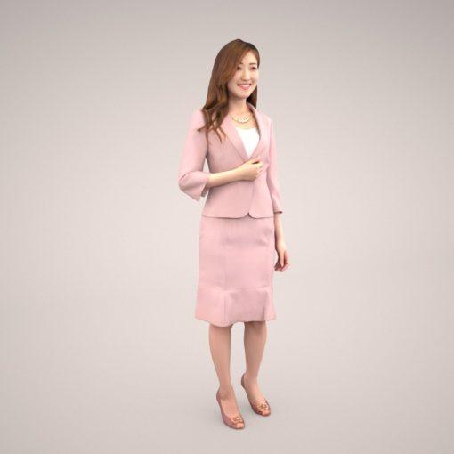 woman-3dmodel-pink
