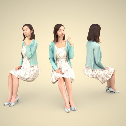 asian-3Dmodel-japan-woman-siting