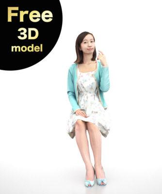 free-3D-woman-model-asian