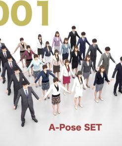 3Dmodel-People-set