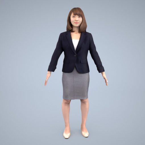 3Dmodel-female-asia