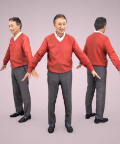 3D-model-Male-casual-senior