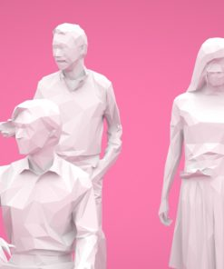 LOW-Polygon-3D-people-set