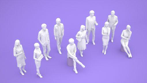LOW-Polygon-3D-people-set