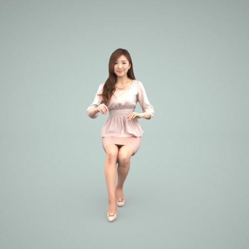 3d-people-asian-sitting-woman