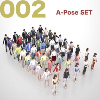 3Dmodel-PEOPLE-asian-casual-set