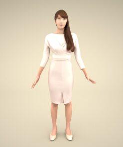 3Dmodel-PEOPLE-asian-casual-rika
