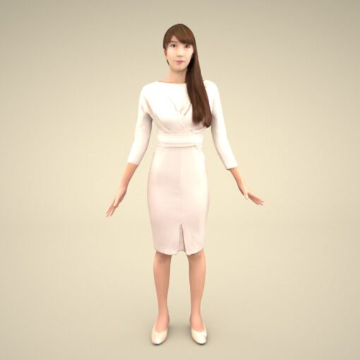 3Dmodel-PEOPLE-asian-casual-rika