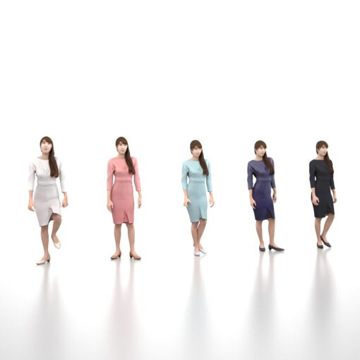 3Dmodel-PEOPLE-asian-female-animetion