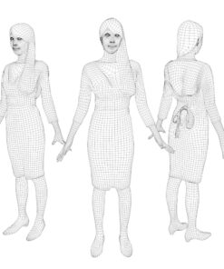 wireframe-3Dmodel-PEOPLE-asian