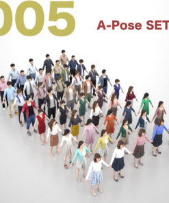 Animation-3Dmodel-People-Asian-casual-set
