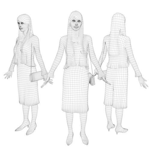 animation-3Dmodel-People-japan-casualwoman