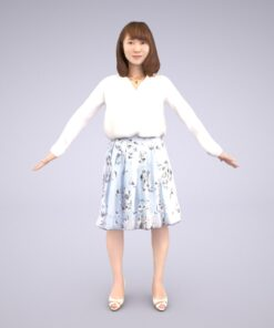 Animation-3Dmodel-Human-Asian-casual-woman