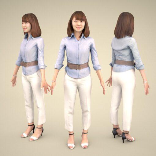 freemodel-3Dmodel-PEOPLE-asian-casual