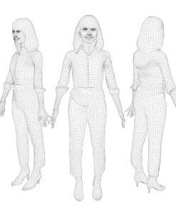 mesh-3Dmodel-PEOPLE-asian-casual
