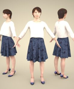3Dmodel-PEOPLE-asian-casual-woman