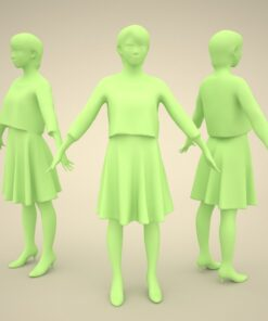 3Dmodel-PEOPLE-asian-casual-giral