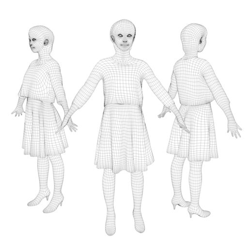 wireframe-3Dmodel-PEOPLE-asian-casual