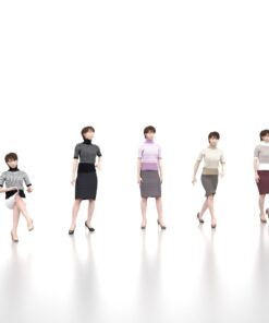 animation-3Dmodel-Human-asian-casual-female
