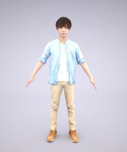 Animation-3Dmodel-Human-Asian-casual-china