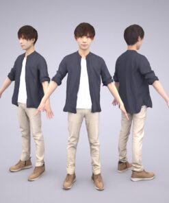 Animation-3Dmodel-Human-Asian-casual-china
