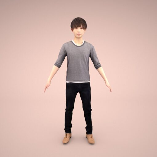 animation-3Dmodel-Human-asian-casual-male