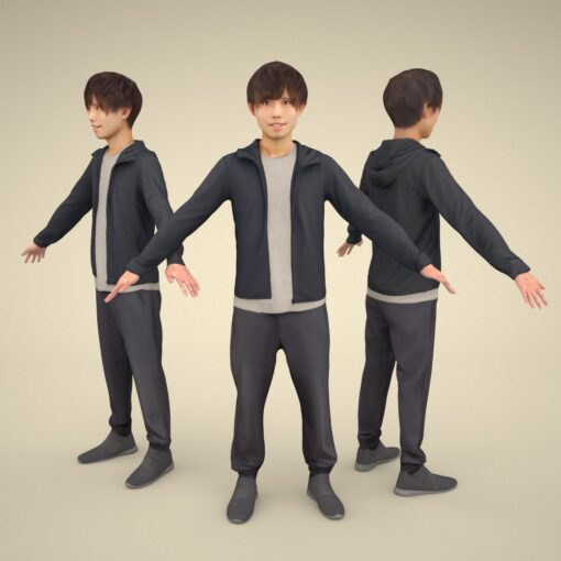 apose-3Dmodel-PEOPLE-asian-casual-sports