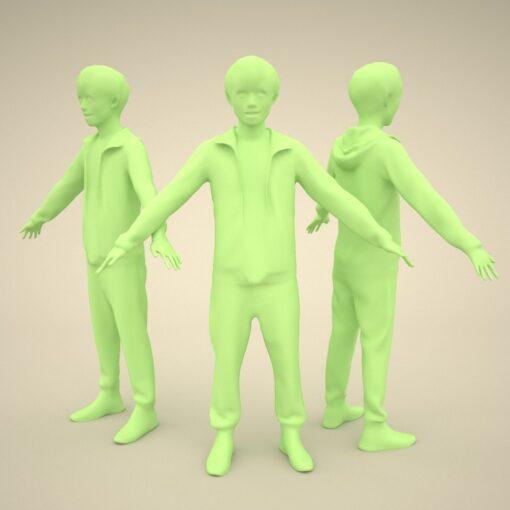 3Dmodel-PEOPLE-asian-casual-model