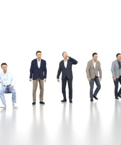 animation-3Dmodel-People-japan-casual-senior