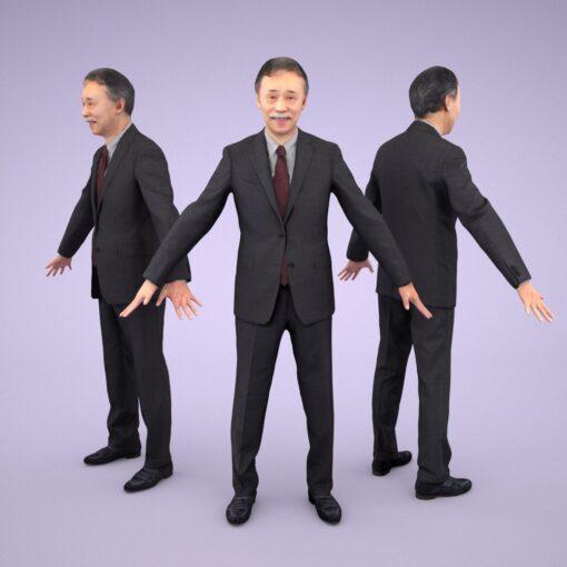 3D-PEOPLE-japanese-business-senior-model