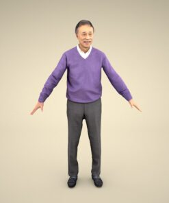 senior-3Dmodel-PEOPLE-asian-casual