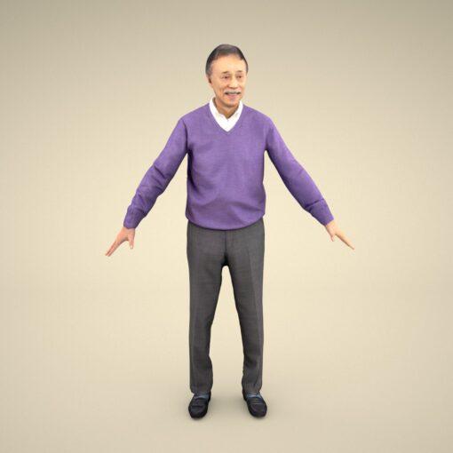 senior-3Dmodel-PEOPLE-asian-casual