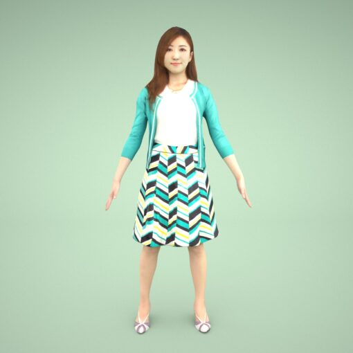 Animation-3Dmodel-People-Asian-casual-woman