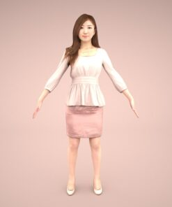 animation-3Dmodel-Human-asian-casual