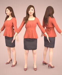 animation-3Dmodel-Human-asian-casualwoman
