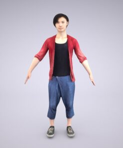 Animation-3Dmodel-Human-Asian-casual-china-man