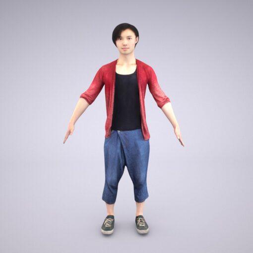 Animation-3Dmodel-Human-Asian-casual-china-man