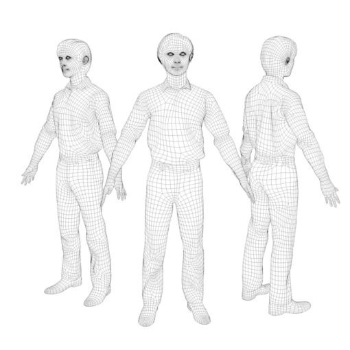 wireframe-animation-3Dmodel-Human-asian-casual