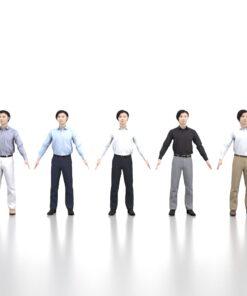 animation-3Dmodel-Human-asian-casual-apose