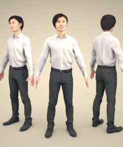 3Dmodel-PEOPLE-asian-casual-apose