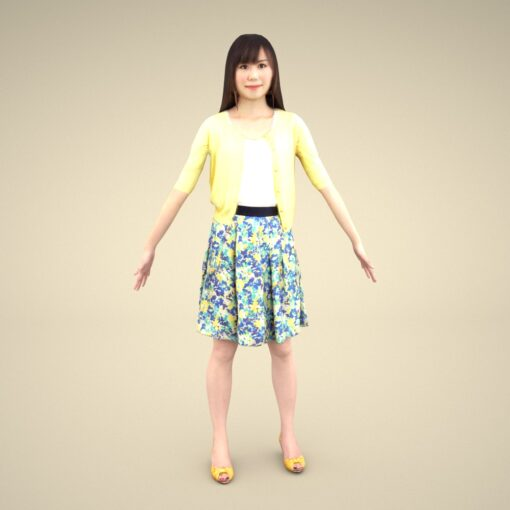 3Dmodel-PEOPLE-asian-casual-female-cute
