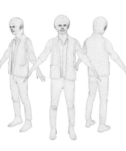 3Dmodel-PEOPLE-asian-casual-wire