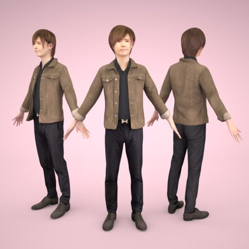animation-3Dmodel-People-japan-casual