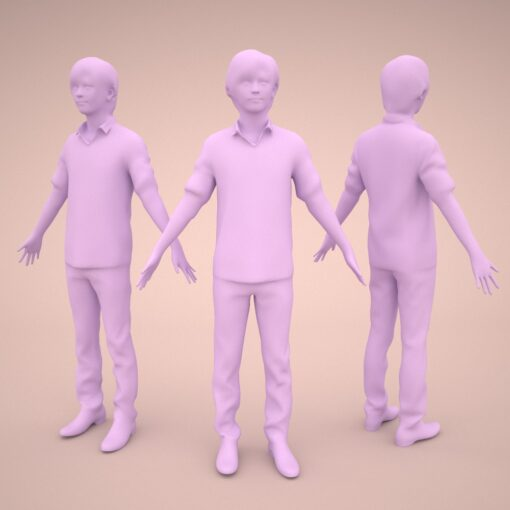 animation-3Dmodel-Human-asian-casual-youngmodel