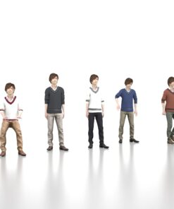 animation-3Dmodel-Human-asian-casual-young