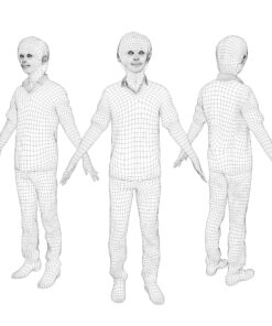 animation-3Dmodel-Human-asian-casual-mesh