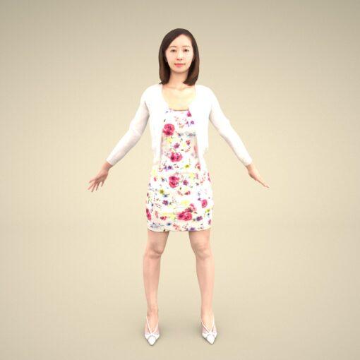 3Dmodel-PEOPLE-asian-casual-Aya