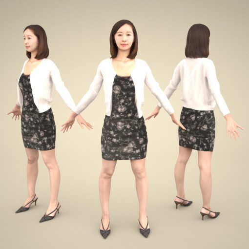 3Dmodel-PEOPLE-asian-casual-apose-female