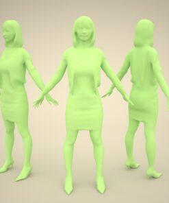 3Dmodel-PEOPLE-asian-casual-rendering
