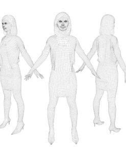 3Dmodel-PEOPLE-asian-casual-wireframe